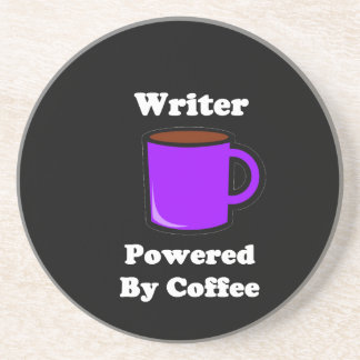 """""""Writer"""" Powered by Coffee Drink Coaster"""