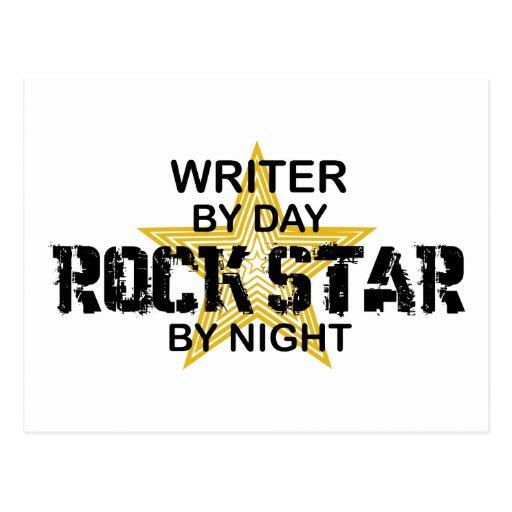 Writer Rock Star by Night Postcards