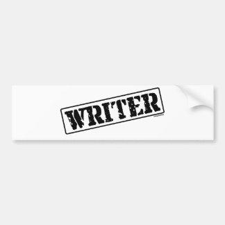 Writer Stamp Bumper Sticker