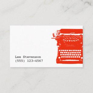 Typewriter business cards profile cards zazzle ca writer typewriter business card reheart Choice Image