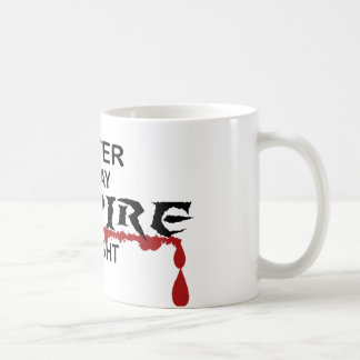 Writer Vampire by Night Coffee Mug