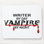 Writer Vampire by Night Mouse Pads