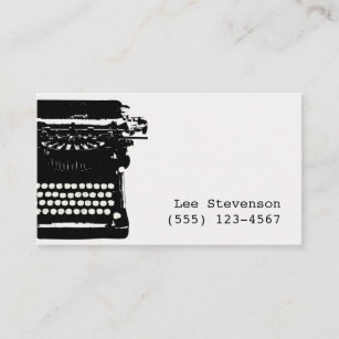 Author business cards profile cards zazzle ca writer vintage typewriter business card reheart Choice Image