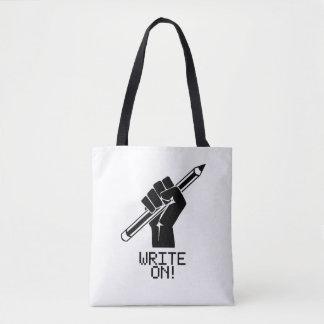 Writer Write On Tote Book Bag