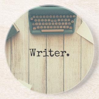 Writer writing desk retro typewriter coaster