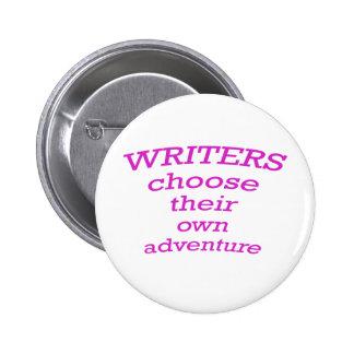 Writers choose their own adventure 2 inch round button