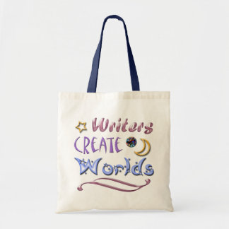 Writers Create Worlds Budget Tote Bag