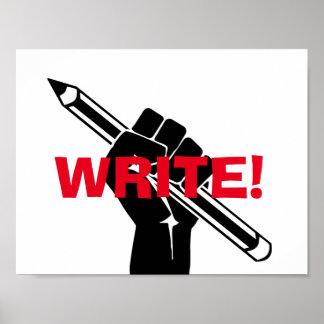 "Writer's motivational ""Write!"" Poster"