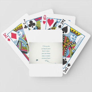 writers Quote Bicycle Playing Cards