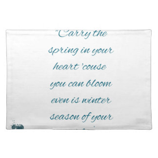writers Quote Placemat