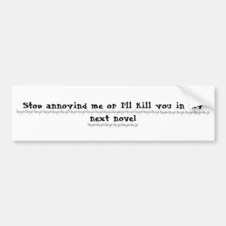 Writers Revenge Bumper Sticker