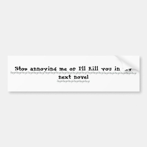 Writers Revenge Bumper Stickers