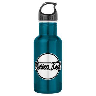 Writers Rock Circle Logo Black White 532 Ml Water Bottle