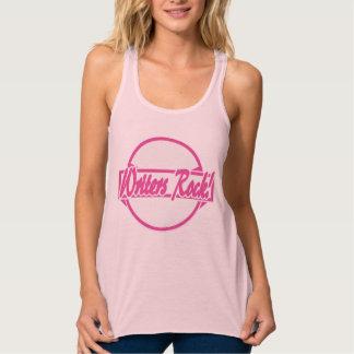 Writers Rock Circle Logo Pink Grunge Tank Top