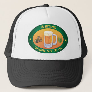 Writing Drinking Team Trucker Hat