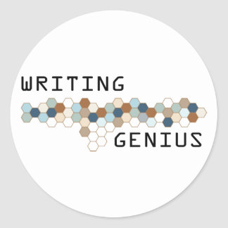 Writing Genius Classic Round Sticker