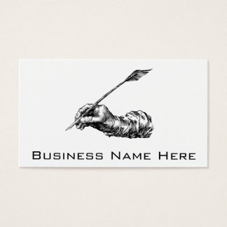 Writing Hand Business Card