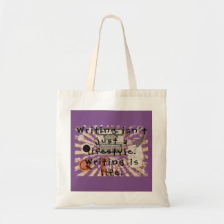 Writing is life tote bag