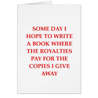 writing joke card