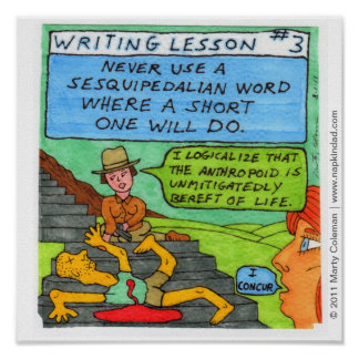 Writing Lesson #3 Poster