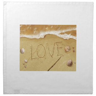 Writing Love In The Sand Cloth Napkin