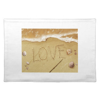 Writing Love In The Sand Place Mats
