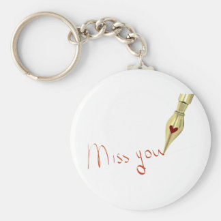 Writing Miss You Keychain