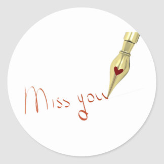 Writing Miss You Stickers