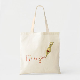 Writing Miss You Tote Bag