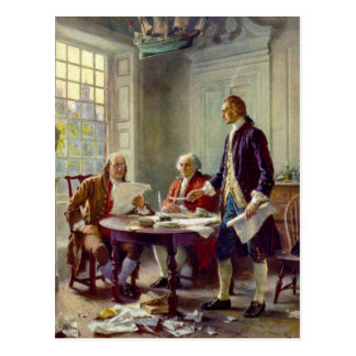 Writing of the Declaration of Independence Postcard