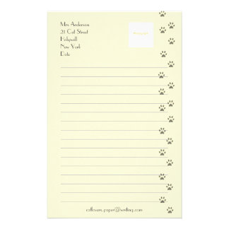 Writing Paper for Cat Lovers Stationery Design