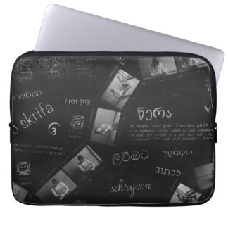 Writing Photogram Laptop Sleeve