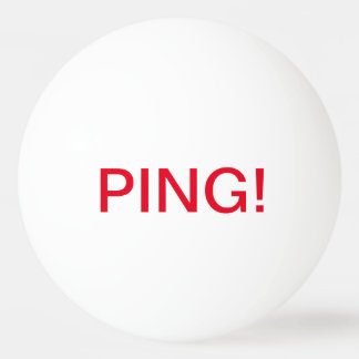 Writing: PING! , PONG!; Ping Pong Ball