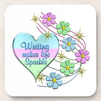 Writing Sparkles Coaster