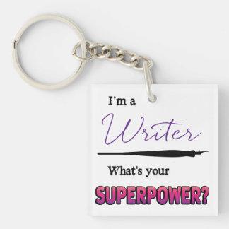 Writing Superpower Acrylic Keychain
