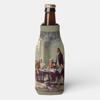 Writing the Declaration of Independence Bottle Cooler