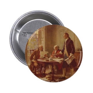 Writing the Declaration of Independence by Ferris 2 Inch Round Button