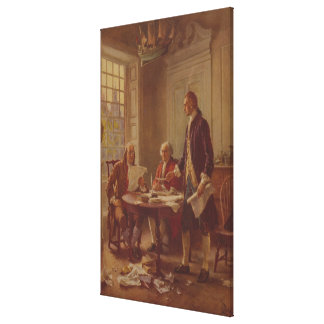 Writing the Declaration of Independence by Ferris Canvas Prints