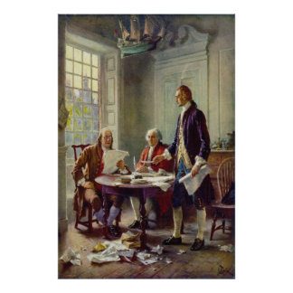 Writing the Declaration of Independence by Ferris Poster