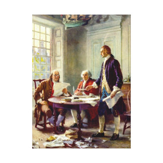 Writing The Declaration Of Independence Canvas Print