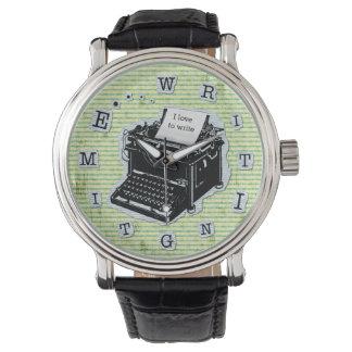 Writing Time Typewriter for Writers Custom Watch