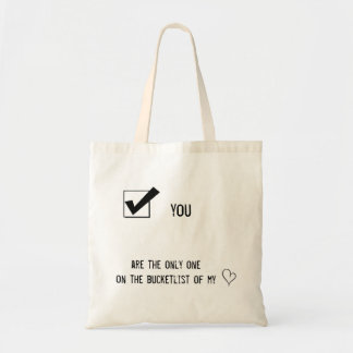 writing tote bag