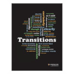 "Writing Transitions 18"" x 24"" Classroom Poster"