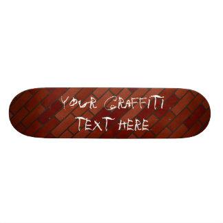 Writings on the brick wall skateboard decks