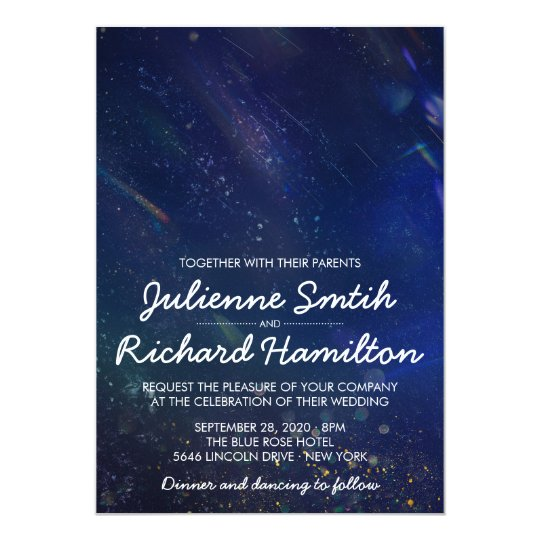Written in the Stars | Galaxy Wedding Invitation