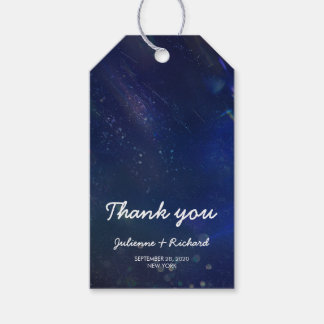 "Written in the Stars | Galaxy Wedding ""thank you"" Pack Of Gift Tags"