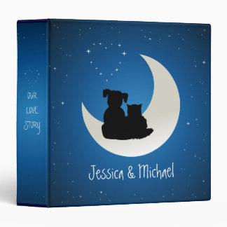 Written In The Stars Love Cat Dog Couple Vinyl Binder