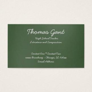 Written on a Green Chalkboard Business Card