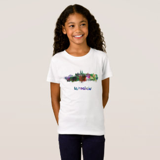 Wroclaw skyline in watercolor T-Shirt