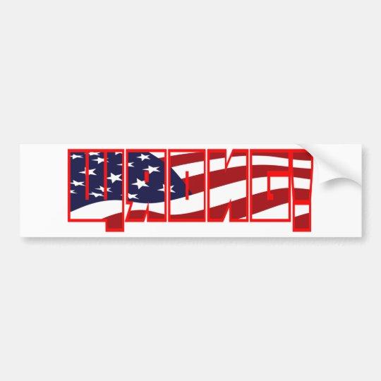 Wrong! flag filled orange stroke bumper sticker